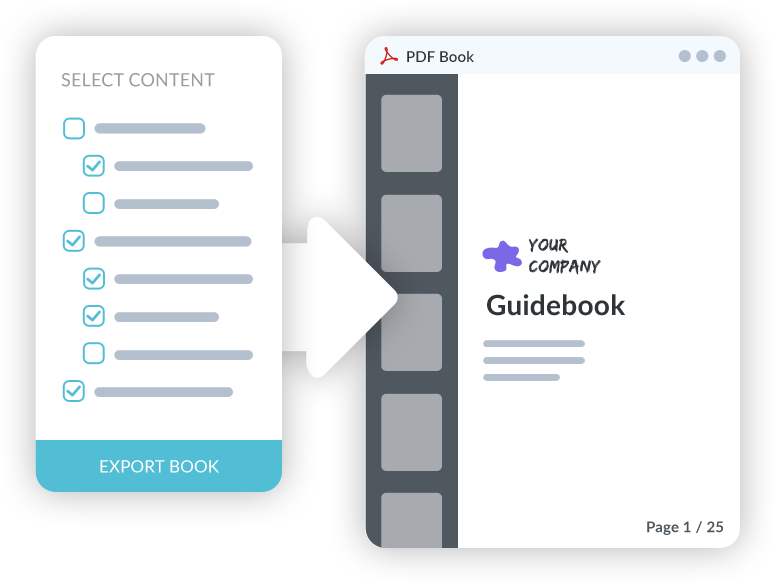 Exporter un manuel en pdf