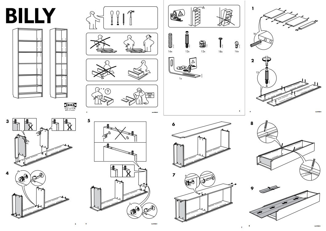 Ikea step-by-step instructions